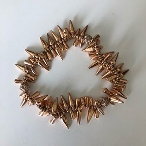 Rose gold Stella & Dot Renegade Cluster Bracelet